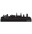 Leeds england skyline detailed silhouette vector