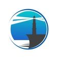 Lighthouse button or icon vector