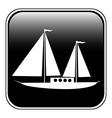 Sailing ship button vector