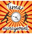 Time management poster sketch vector