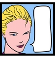 Comics girl vector