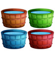 Wooden bucket vector