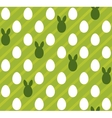 Easter eggs seamless green texture rabbit hare vector