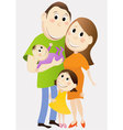 Cartoon happy family vector
