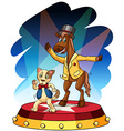 Funny animal performers vector
