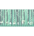 Seamless horizontal pattern with snowdrops vector