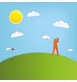 Golf player vector
