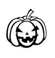 Black-and-white silhouette of pumpkin halloween vector