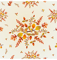 Autumn leaves seamless pattern background eps10 vector