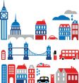 Silhouettes of european cities lond0n vector