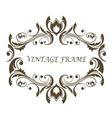 Vintage floral and foliate frame vector
