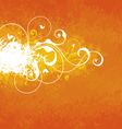 Orange floral background vector