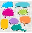Set of speech and thought blobs scrapbook design vector
