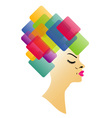 Abstract hairstyle vector