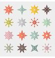 Colorful retro cut paper stars set vector