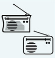Old radio receiver vector