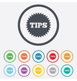 Tips sign icon star symbol vector