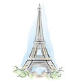 Eiffel tower france vector