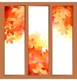 Autumn watercolor headers vector