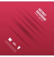 Abstract background lines shadow and red vector