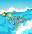 Surf fish vector