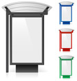 Bus shelter billboard vector
