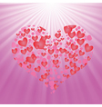 Heart on pink background vector