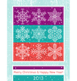 Retro christmas background with hand draw snowflak vector