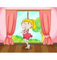 Girl near window vector