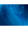 Abstract blue background with waves vector