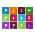 Light bulb and cfl lamp icons on color background vector