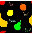 Black fruit pattern vector