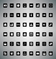 Pack of universal icons for web or applications vector