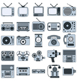 Retro electronic icons vector