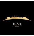 Jaipur india city skyline silhouette vector