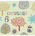 Vintage christmas hand drawn backgrounds vector