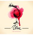Wine vintage background vector
