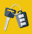 Car key and charm of the alarm system vector
