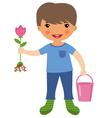 Cute gardener vector