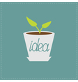 Plant in the pot growing idea concept vector
