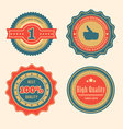 Sale retro badges vector