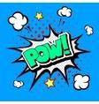 Pow - comic speech bubble cartoon vector
