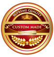 Custom made original label vector