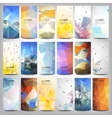 Big colored abstract banners set conceptual vector