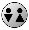 Wc button vector