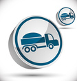 Truck 3d icon vector