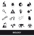 Biology icons set eps10 vector