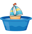 Toy sail boat vector