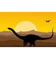 Dinosaurs background vector