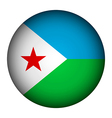 Djibouti flag button vector